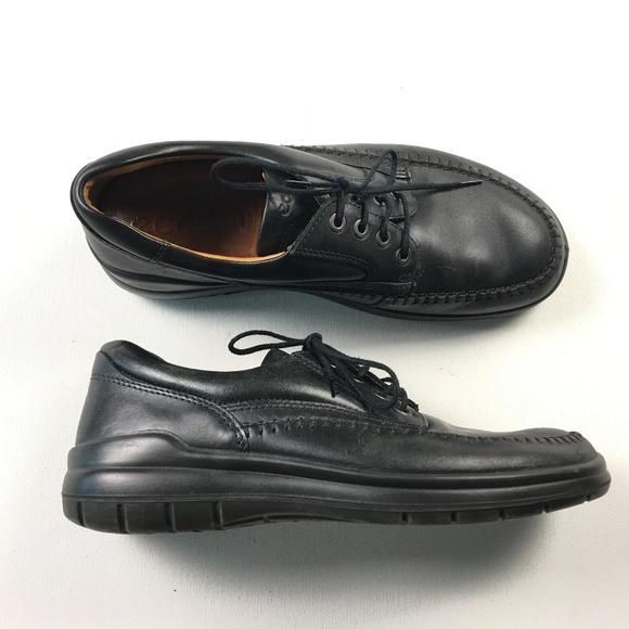 c50c4f50 Ecco Mens Black Rubber Sole Mens Shoes 42 Size 8